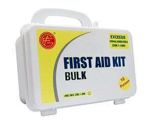 10 Person ANSI/OSHA First Aid Kit, Plastic Case < Genuine First Aid #9999-2105