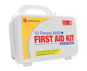10 Person ANSI/OSHA First Aid Kit, Plastic Case PREMIUM < Genuine First Aid #9999-2109