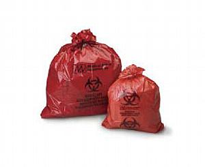 "Biohazard Infectious Waste Bags, 14"" x 19"", Case/ 500 < #2302"
