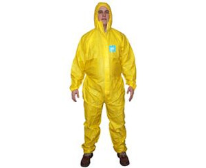 MicroChem 2000 Plus Coverall w/ Hood, Yellow < Microchem
