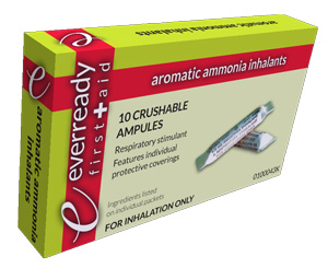Aromatic Ammonia Inhalant Solution, Box/10 < Everready First Aid