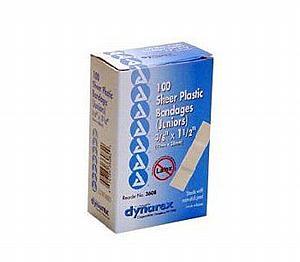 """Adhesive Junior Plastic Bandages, 40 pcs, 3/8"""" x 1.5 < Genuine First Aid #9999-0102"""