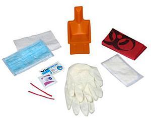 Body Fluid/Biohazard Spill Clean Up Kit, Ziplock Bag