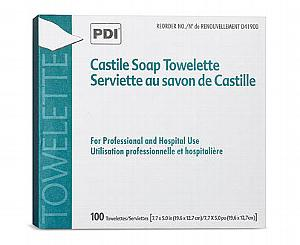 Castile Soap Towelettes, Box/100