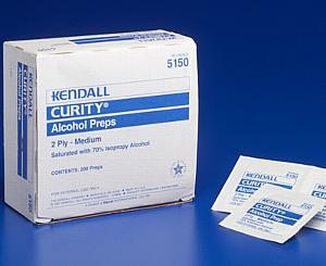 Medium Alcohol Prep Pads, Box/200 < Kendall #5750