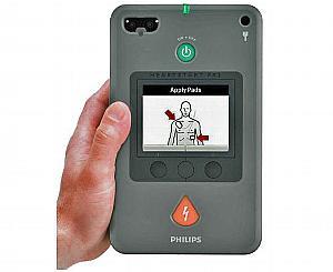 HeartStart FR3 AED Defibrillator w/ Text Prompt Display Option