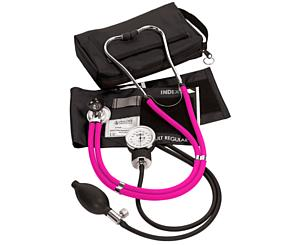 Aneroid Sphygmomanometer / Sprague-Rappaport Stethoscope Kit, Adult, Neon Pink < Prestige Medical #A2-N-PNK