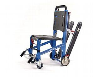 EZ-Glide Stair Chair w/ IV, LocHandles, Track & ABS Panels - Electric Blue