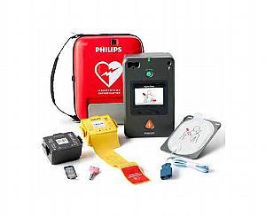 HeartStart FR3 AED Defibrillator W/ ECG Waveform + Text Prompt Display #861389