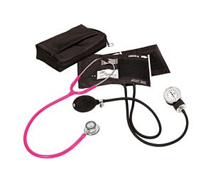 Aneroid Sphygmomanometer / Clinical Lite Stethoscope Kit, Adult, Neon Pink < Prestige Medical #A121-N-PNK