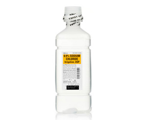 Sodium Chloride Irrigation 0.9%, 1000ml Plastic Bottle < BAXTER #2F7124