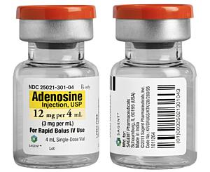 Adenosine Injection, USP, 12mg per 4mL < Sagent Pharmaceuticals