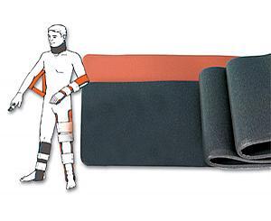 "Padded Aluminum Foam Splint, 36"" x 4.5"", Orange"