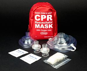 Adult & Infant CPR Mask Combo Kit w/ 2 Valves < EverReady #EVR-CPR02