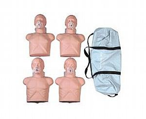 Economy Adult Sani-Manikin CPR Trainer 4 Pack w/ Carry Bag < Simulaids #2145