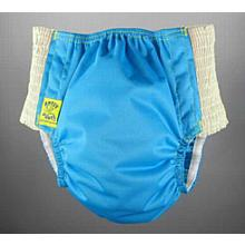 Antsy Pants™ AIO or AI2 size M Aqua Blue with White Easy-Stretch Sides (kiddos apx. 30-45lbs)