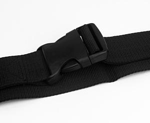 9 ft One Piece Backboard Strap Restraint, Black < EverDixie #1782B