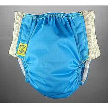 Antsy Pants™ AIO or AI2 size L Aqua Blue with White Easy-Stretch Sides (bigger kids apx. 45-60lbs)