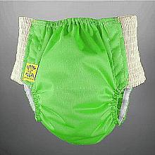 Antsy Pants™ AIO or AI2 size S Spring Green with White Easy-Stretch Sides (littles apx.15-30lbs)