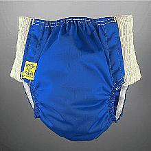 Antsy Pants™ AIO or AI2 size S Deep Blue with White Easy-Stretch Sides (littles apx.15-30lbs)