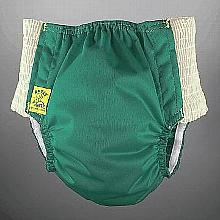 Antsy Pants™ AIO or AI2 size S Fall Green with White Easy-Stretch Sides (littles apx.15-30lbs)