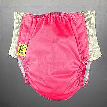 Antsy Pants™ AIO or AI2 size S Hot Pink with White Easy-Stretch Sides (littles apx.15-30lbs)