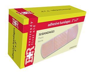 """Adhesive Bandages, 1"""" x 3"""", 50's < EverReady #0300001K4"""