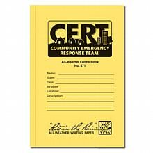 All weather 48 page C.E.R.T. standard forms book (Package of 3)