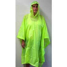 FLO Green Emergency Poncho SH88B _Package of 5)