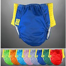 *Custom Order* Antsy Pants™ Diaper - Size M assorted colors for kiddos apx. 30-45lbs, with Yellow Easy-Stretch Sides. Ships in 1-2 weeks.