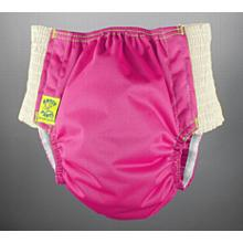 Antsy Pants™ size L in Violet with White easy-stretch sides (bigger kids apx. 45-60lbs)