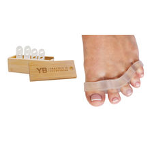 Awesome Toes! Toe Spreaders & Separators x2 Pair in Stylish Wooden Box