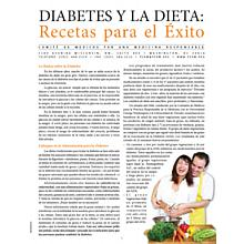 Diet and Diabetes: Recipes for Success (Spanish Language)