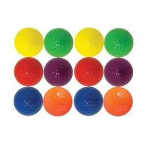 One dozen brightly colored Golf Balls