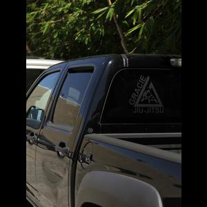 "(10x10.5"") Large Black Triangle Thermal Dye Cut Sticker"