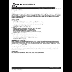 Blue Belt Stripe 2 Detailed Lesson Printouts
