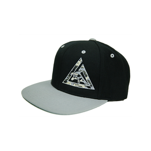 Camo Snapback 2-Tone Cap (Black/Silver)