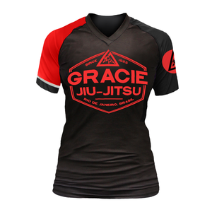 Black Rank Gracie Short-Sleeve Rashguards (Women)