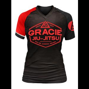 Black Rank Gracie Short-Sleeve Rashguards (Women)