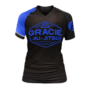Blue Rank Gracie Short-Sleeve Rashguards (Women)