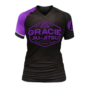 Purple Rank Gracie Short-Sleeve Rashguards (Women)