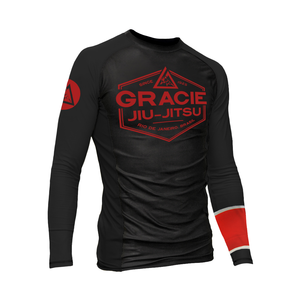 Black Rank Gracie Rashguards (Men)