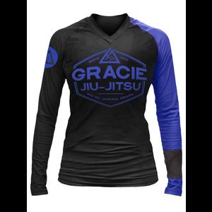 Blue Rank Gracie Rashguards (Women)