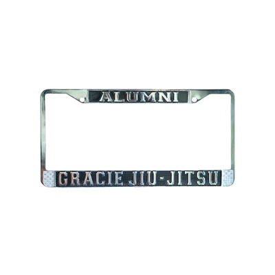Gracie University Chrome License Plate
