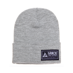 Gracie Jiu-Jitsu Beanie (Light Gray)