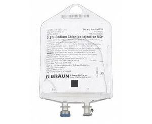 0.9% Sodium Chloride Injection, USP IV Bag, 50 mL 157 PAB < B Braun #S8004-5384
